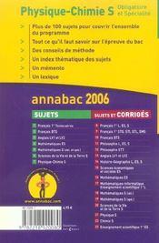 Annabac Sujets T.7 (édition 2006) - 4ème de couverture - Format classique