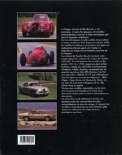 Fantastiques Alfa Romeo - 4ème de couverture - Format classique