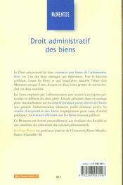 Droit Administratif Des Biens ; 1e Edition - 4ème de couverture - Format classique