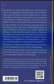 Harry potter a l ecole de la philosophie. etude philosophique - 4ème de couverture - Format classique