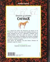 Dessiner et peindre les chevaux - 4ème de couverture - Format classique