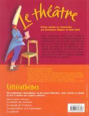 Le théâtre ; anthologie pour le cycle 3 - 4ème de couverture - Format classique