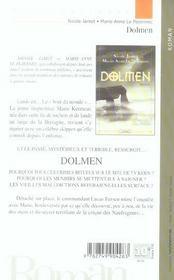 Dolmen - 4ème de couverture - Format classique