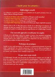 La reflexologie sexuelle - 4ème de couverture - Format classique
