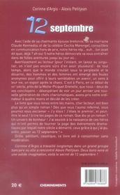 12 Septembre Ou La Vertigineuse Ascension De John Keljohn - 4ème de couverture - Format classique