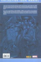 X-men t.2 ; opération tolérance zéro - 4ème de couverture - Format classique
