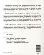 Les secrets de l'efficacité aux échecs - 4ème de couverture - Format classique