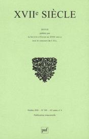 Revue Xviie Siecle N.249 - Couverture - Format classique