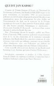 Mon Temoignage Devant Le Monde ; Histoire D'Un Etat Secret - 4ème de couverture - Format classique