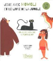 Joue avec Mowgli et le livre de la jungle ; 5/99 ans ; un jeu de mémoire retentissant - Couverture - Format classique