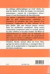 L'oral de français au baccalauréat - 4ème de couverture - Format classique