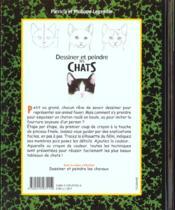 Dessiner et peindre les chats - 4ème de couverture - Format classique