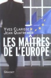Les maitres de l'europe - Couverture - Format classique