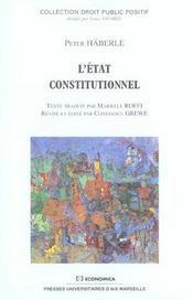 L'etat constitutionnel - Intérieur - Format classique