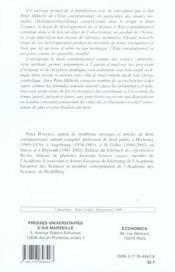 L'etat constitutionnel - 4ème de couverture - Format classique