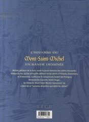 L'histoire du Mont-Saint-Michel en bande dessinée - 4ème de couverture - Format classique