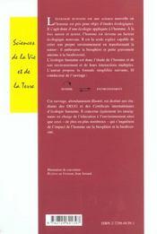 Introduction A L'Ecologie Humaine - 4ème de couverture - Format classique