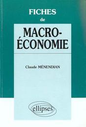 Fiches De Macroeconomie - Intérieur - Format classique
