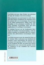 Fiches De Macroeconomie - 4ème de couverture - Format classique