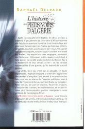 L'histoire des pieds-noirs d'algerie (1830-1962) - 4ème de couverture - Format classique