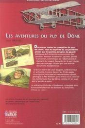 Les aventures du puy de dôme - 4ème de couverture - Format classique