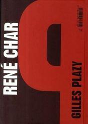 René Char ; fiction sublime - 4ème de couverture - Format classique