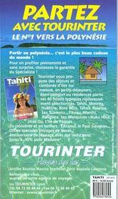 Tahiti 2000, le petit fute (edition 1) - 4ème de couverture - Format classique
