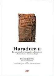 Haradum II ; les textes de la période paléo-babylonienne - Intérieur - Format classique