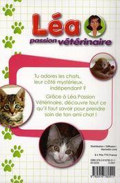 Lea passion veterinaire les chats - 4ème de couverture - Format classique