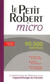 Dictionnaire Le petit Robert micro - Couverture - Format classique