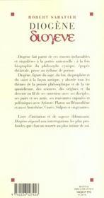 Diogène - 4ème de couverture - Format classique