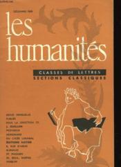 Les Humanites N°351 - Classes De Lettres - Sections Classiques - Couverture - Format classique