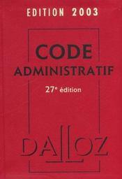 Code Administratif - Intérieur - Format classique