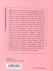 Histoire De La Litterature Anglaise - 4ème de couverture - Format classique
