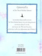 Camomille Et Les Trois Petites Soeurs Chez Le Joueur De Flute De Hamelin - 4ème de couverture - Format classique