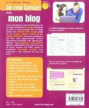 Mon blog - 4ème de couverture - Format classique