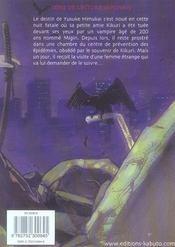 Bloodsucker T.1 - 4ème de couverture - Format classique