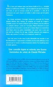Les tribulations d'aristide - 4ème de couverture - Format classique