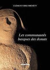 Les Communautes Basques Des Donats - Couverture - Format classique