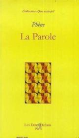 Parole (La) - Couverture - Format classique