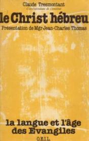 Le christ hebreu - Couverture - Format classique