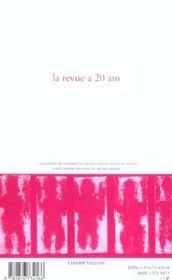 Le Nouveau Recueil N.74 ; La Revue A Vingt Ans - 4ème de couverture - Format classique