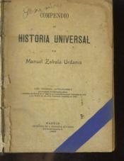 Compendio De Historia Universal - Couverture - Format classique
