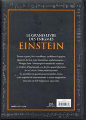 Le grand livre des énigmes d'Einstein - 4ème de couverture - Format classique