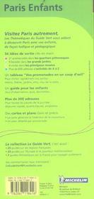 Paris enfants - 4ème de couverture - Format classique