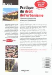 Pratique du droit de l'urbanisme ; urbanisme réglementaire, individuel et opérationnel (édition 2003) - Couverture - Format classique