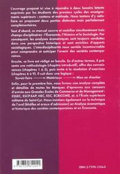 Analyse Economique Et Historique Des Societes Contemporaines Gdes Ecoles De Commerce Cours 2e Annee - 4ème de couverture - Format classique
