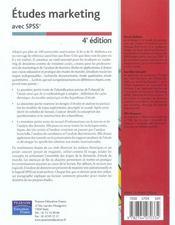 Etudes marketing avec spss - 4ème de couverture - Format classique