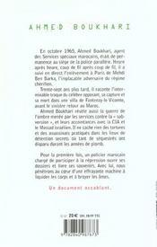 Le Secret ; Ben Barka Et Le Maroc ; Un Ancien Agent Des Services Speciaux Parle - 4ème de couverture - Format classique