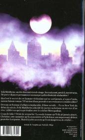 Le Fantome De Manhattan - 4ème de couverture - Format classique